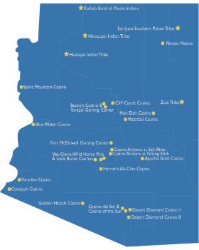 Map of Arizona Casinos